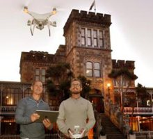 Drone-Facebook first takes Castle to millions, Larnach Castle