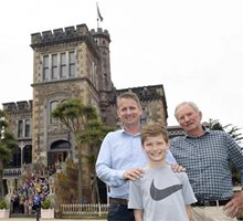 Architect's descendants converge at Larnach Castle, Larnach Castle