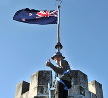 Castle flying the flag again, Larnach Castle